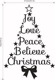 aliexpress com buy joy love peace believe christmas quotes stars