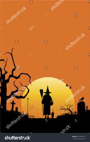 cat halloween background images halloween scenery background witch cat walking stock vector
