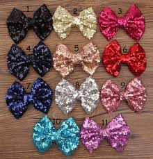 toddler hair bows diy big sequins bows on alligator clip children hair bling sequins