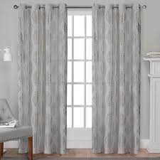 Light Silver Curtains Augustus Silver Metallic Light Filtering Grommet Top Window