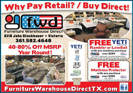 buy direct from furniture warehouse direct and get a free yeti
