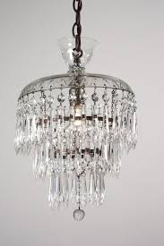 Small Glass Chandeliers Antique Three Tier Chandelier With Glass Prisms