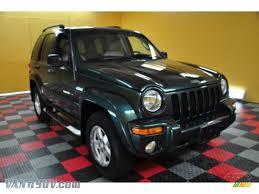 dark green jeep 2002 jeep liberty limited 4x4 in shale green metallic 221796