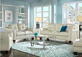 White Leather Living Room Set Blue Leather Living Room Set Lifeunscriptedphoto Co