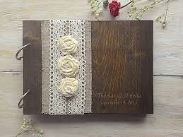wedding books wooden guestbook wedding guest books burlap lace guest book