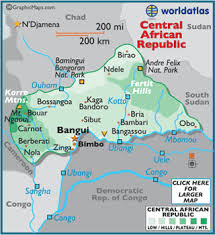 africa map landforms geography of central republic landforms world atlas