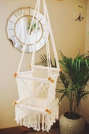 Handmade Nursery Decor by Macrame Hammock Baby Swing Chair Handmade In Nicaragua Adelisa U0026 Co