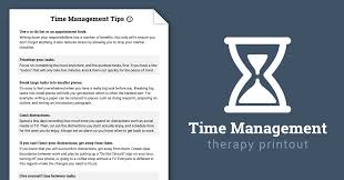 Goal Worksheets For Adults Time Management Tips Worksheet Therapist Aid