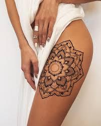 tattoo on thigh ideas 36 perfect mehndi tattoo designs by veronica krasovska thigh