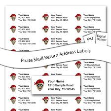 pirate skull custom return address labels 4 50 free shipping