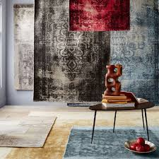 How To Make A Wool Rug With A Hook Distressed Arabesque Wool Rug Steel West Elm
