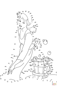 cinderella dot to dot free printable coloring pages