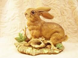 rabbit home decor vintage napco bunny rabbit porcelain figural figurine collectible