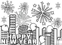happy new year preschool coloring pages firework coloring page happy new year fireworks coloring page