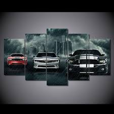 no framed canvas art printed muscle cars planet painting canvas