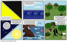 bible creation storyboard by mleppert