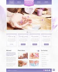 website template 42735 nail spa salon custom website template