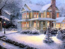 victorian christmas iii artist thomas kinkade paesaggi