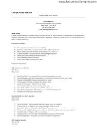 Rn Job Description Resume Resume Format For Nursing Job Charge Nurse Job Description Resume