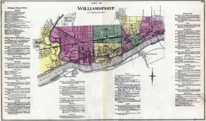 Map Of Williamsport Pa Lycoming Co 1873 Atlas