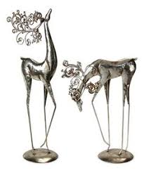 Christmas Deer Decorations Indoor by Majestic Deer Small Silver Holiday Decor Accessories