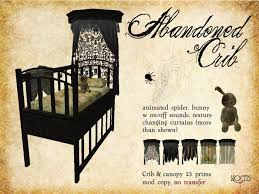 Gothic Baby Cribs by Second Life Marketplace Noctis Abandoned Victorian Crib W Canopy