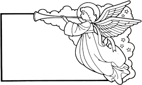 blank christmas card angel coloring pages 434052 coloring pages