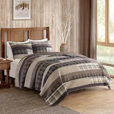 Plaid Bedding Set 3 Piece Winter Plains Plaid Quilt Set
