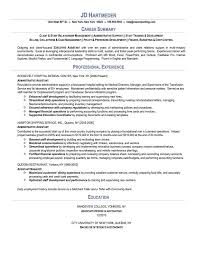 Career Summary And Professional Experience Also Education For Administrative Assistant Objective Resume      Binuatan