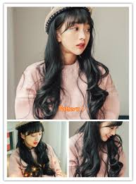 korean style long curly girls full wig love holiday party look