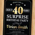 surprise 40th birthday invitations smart worker