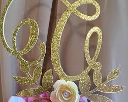gold letter cake topper letter cake topper etsy