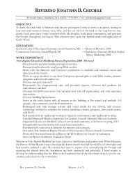 Sample Ministry Resume by Jonathan Chechile Ministry Resume