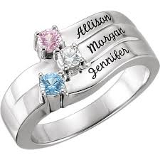 day rings personalized mothers ring birthstone ring family jewelry engraved ring family
