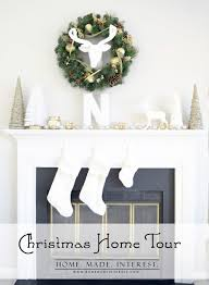 Christmas Decorations White And Gold by Christmas Decorating Ideas Home Tour 2014 Home Made Interest
