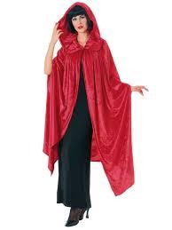 hooded red velvet cape womens halloween costumes