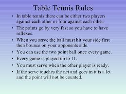 10 rules of table tennis gypsy official rules of table tennis f14 in modern home decorating