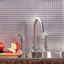 Aluminum Backsplash Kitchen by Fasade Backsplash Square In Brushed Aluminum Aluminum Backsplash