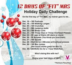 12 days of fitmas red holiday countdown pinterest