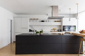 White Kitchen Cabinets With Black Island by 31 Black Kitchen Ideas For The Bold Modern Home Freshome Com
