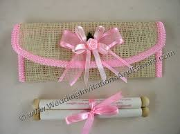 scroll invitations diy pink scroll wedding invitations jpg 640 479 party ideas