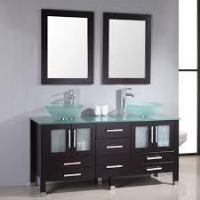 2920c1jpg glass vanity combo set with shelfs bathroom bathroom vessel sink vanity combo home depot best sink decoration