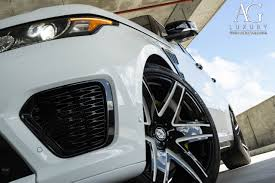 land rover svr white ag luxury wheels range rover sport svr forged wheels