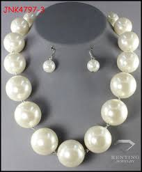 large pearl necklace images Simple design cheap faux pearl jewelry set large pearl choker jpg