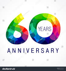 celebrating 60 years birthday royalty free 60 years celebrating colored logo 306854705