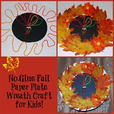 no glue fall wreath craft for kids wikki stix