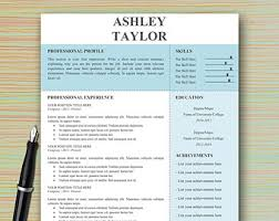 Modern Professional Resume Template Professional Modern Resume Template For Microsoft Word