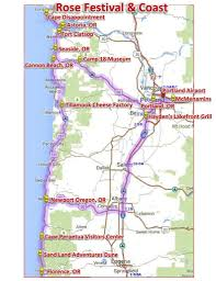 Oregon Beaches Map by Rose Festival And Oregon Coast U2013 Oregonwest Excursions