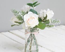 Artificial Lilies In Vase Artificial Flowers Etsy