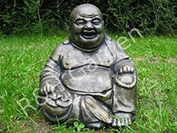 large laughing buddha garden ornament bronze effect free p p